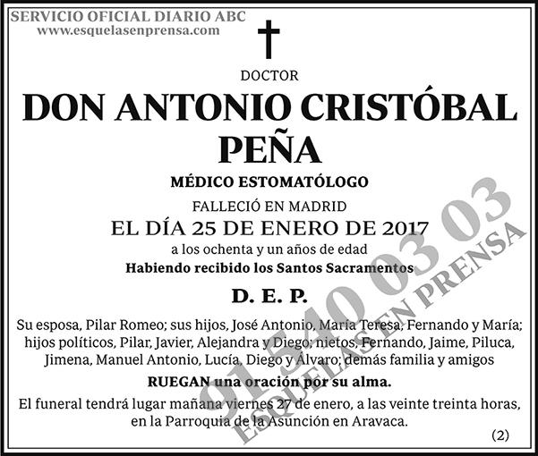 Antonio Crsitóbal Peña